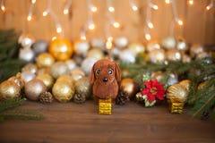 2018 años del perro, decoraciones de la Navidad Imagen de archivo