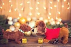 2018 años del perro, decoraciones de la Navidad Imágenes de archivo libres de regalías