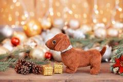 2018 años del perro, decoraciones de la Navidad Fotos de archivo