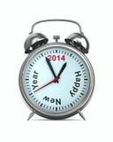 2014 años en el despertador Fotos de archivo
