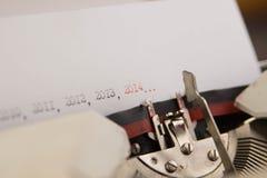 2014 años en la máquina de escribir Imagen de archivo libre de regalías
