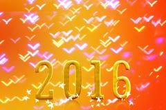 2016 años en luz borrosa del bokeh Foto de archivo