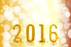 2016 años en luz borrosa del bokeh Imagen de archivo libre de regalías