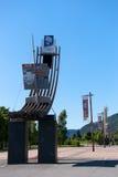 20 años más tarde, estatua de la olimpiada de invierno Imagen de archivo libre de regalías