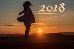 2018 Años Nuevos Imágenes de archivo libres de regalías