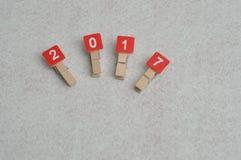 2017 Años Nuevos Imagenes de archivo