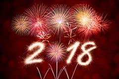 2018 Años Nuevos Imagen de archivo libre de regalías
