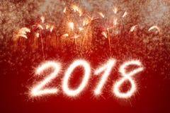2018 Años Nuevos Fotografía de archivo