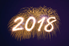 2018 Años Nuevos Imagen de archivo