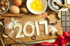 2017 Años Nuevos Imágenes de archivo libres de regalías