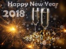2018 Años Nuevos Imagenes de archivo