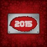 2015 Años Nuevos celebran la tarjeta Foto de archivo libre de regalías