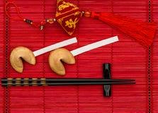 Años Nuevos chinos de galletas de la suerte afortunadas del encanto Imagenes de archivo