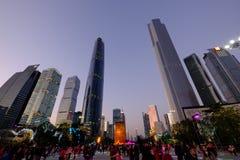 2016 Años Nuevos chinos en el cuadrado de Guangzhou Huacheng Fotos de archivo