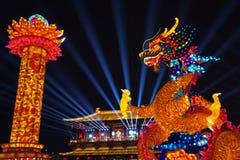 2019 Años Nuevos chinos en Xian fotografía de archivo libre de regalías