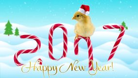 2017 Años Nuevos chinos tarjeta de felicitación del gallo o del gallo con el texto