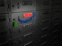 2016 Años Nuevos (concepto financiero del banco) Imágenes de archivo libres de regalías