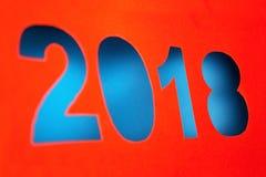 2018 Años Nuevos cortados del papel rojo Imagenes de archivo