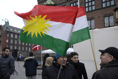 AÑOS NUEVOS DAY_KURDS DE LOS KURDS EN DINAMARCA Fotografía de archivo