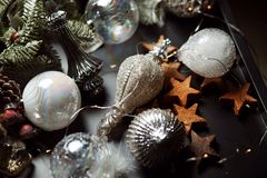 Años Nuevos de accesorios Imágenes de archivo libres de regalías