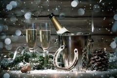 Años Nuevos de celebración Imagen de archivo libre de regalías
