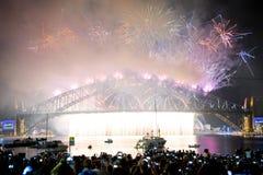 Años Nuevos de celebración Sydney Australia Fotos de archivo
