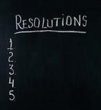 Años Nuevos de concepto de la resolución Foto de archivo