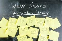 Años Nuevos de concepto de las resoluciones Imagen de archivo libre de regalías