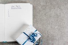 Años Nuevos de concepto de las resoluciones Foto de archivo libre de regalías