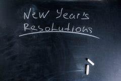 Años Nuevos de concepto de las resoluciones Fotografía de archivo libre de regalías