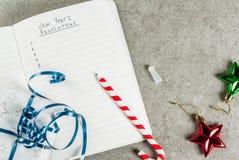 Años Nuevos de concepto de las resoluciones Imágenes de archivo libres de regalías