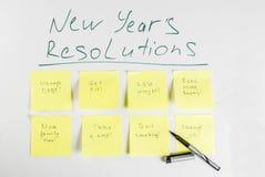 Años Nuevos de concepto de las resoluciones Fotos de archivo libres de regalías
