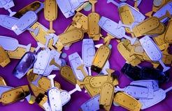 Años Nuevos de confeti Imagen de archivo libre de regalías