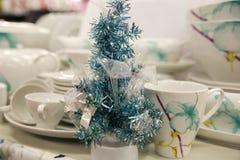 Años Nuevos de decoraciones del árbol Foto de archivo libre de regalías