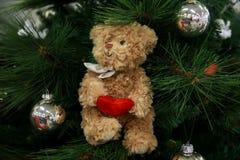 Años Nuevos de decoraciones del árbol Imágenes de archivo libres de regalías