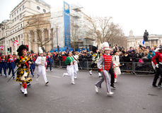 Años Nuevos de desfile Imagen de archivo libre de regalías