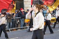 Años Nuevos de desfile del día en Londres. Imagen de archivo libre de regalías