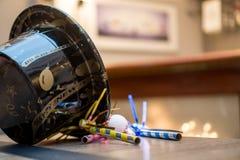 Años Nuevos de Eve Party Hat Imagen de archivo