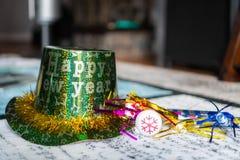 Años Nuevos de Eve Party Hat Imágenes de archivo libres de regalías