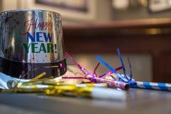 Años Nuevos de Eve Party Hat Imagenes de archivo