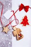 Años Nuevos de fondo de los regalos Foto de archivo libre de regalías