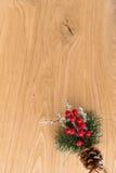 Años Nuevos de fondo en una tabla de madera Imagen de archivo libre de regalías