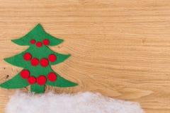 Años Nuevos de fondo en una tabla de madera Foto de archivo libre de regalías
