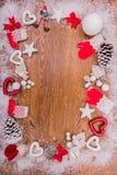 Años Nuevos de fondo en una tabla de madera Fotografía de archivo libre de regalías