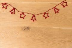 Años Nuevos de fondo en una tabla de madera Fotografía de archivo