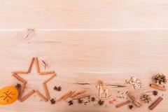 Años Nuevos de fondo en una tabla de madera Imagen de archivo