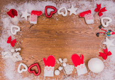 Años Nuevos de fondo en una tabla de madera Imágenes de archivo libres de regalías