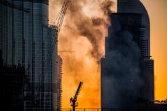 Años Nuevos de fuego en Dubai Fotografía de archivo libre de regalías