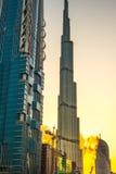 Años Nuevos de fuego en Dubai Fotos de archivo libres de regalías