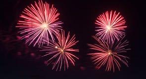 Años Nuevos de fuegos artificiales Imagen de archivo libre de regalías